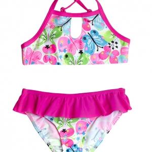 Pink-lepkés magasnyakú mini bikini – CocoBana. Ha egy közvéleménykutatást  végeznénk a kislányok körében arr. 36c906062e