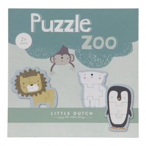 Little Dutch fa puzzle állatkert – ONLINEBABASHOP.HU